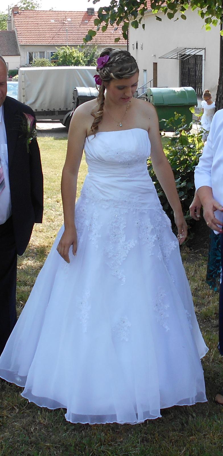 cb88eb0c8cf Svatební šaty vel. 38-42