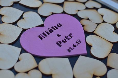Rám srdce - pro menší svatby,