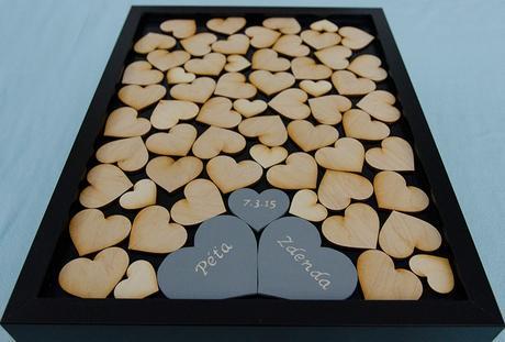 Svatební kniha hostů dvě samostatná srdce,