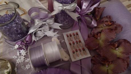 Svadobná výzdoba - fialová,