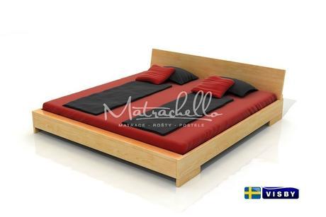 Masivní borovicová postel Lagerkvist 180 x 200 cm,