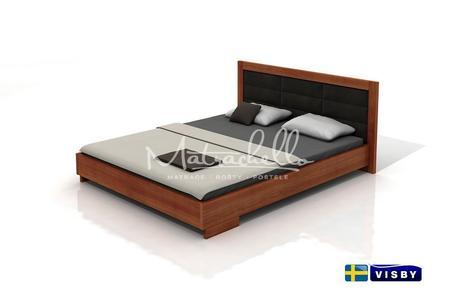 Masivní čalouněná borovicová postel Kalmar 180x200,