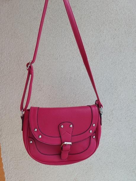 Růžová kabelka přes rameno, XS