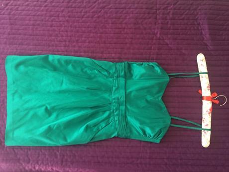 zelené krátké šaty, 36