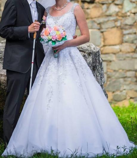 zľava - Svadobné šaty - zľava, 38