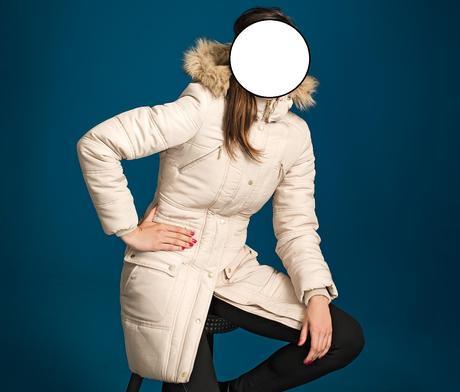 Béžový zimní kabát, 38