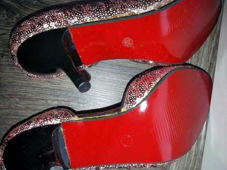 Nenosené glitrované lodičky, 35