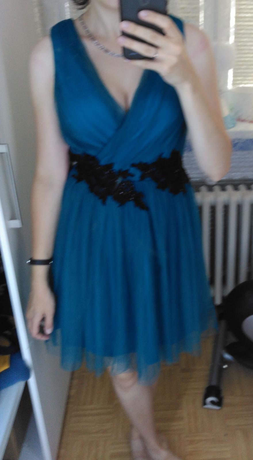 Luxusní modrozelené šaty little mistress 6792472465