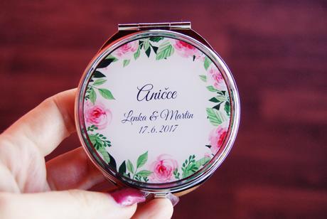 Svatební zrcátko na přání,