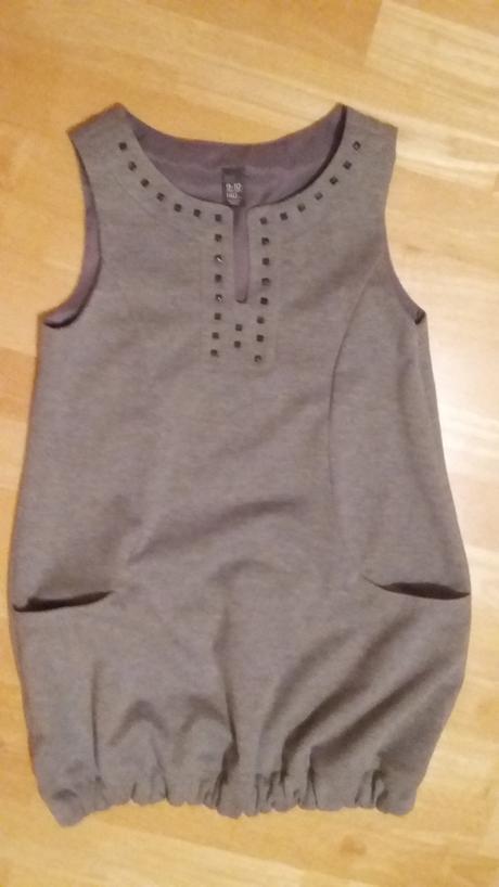 šedé šaty - šatovka, 140