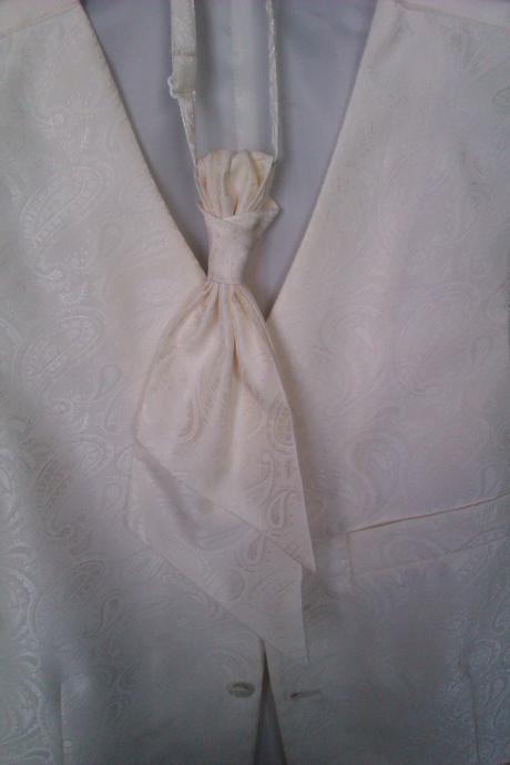 Pánska vesta s francúzskou kravatou, 48