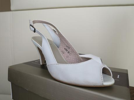 Svatební obuv s otevřenou špičkou, 38