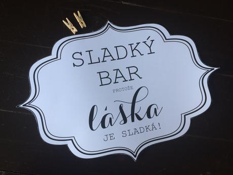 Kompletní sladký bar / candy bar,