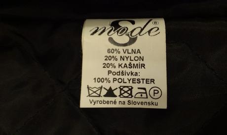 Nenoseny kabat - vyrobene na slovensku, 38