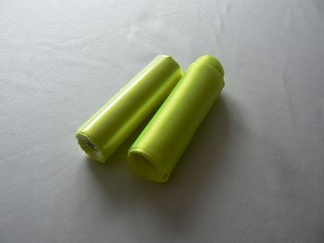 saténová stuha výrazná zelenožltá,