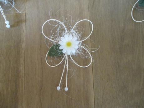 autodekorace-kopretiny a 7 motýlků+dárek zdarma,