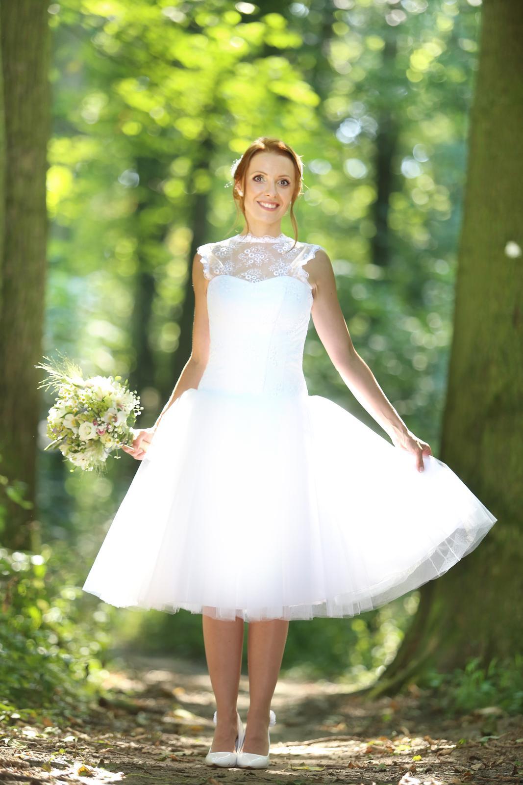 9fb10ffec39f Krátke svadobné retro šaty vel.34-38