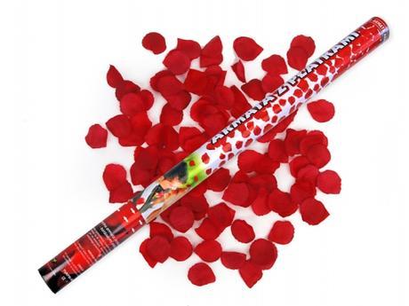 1ks/60cm/ červené lupene vystrelovacie,