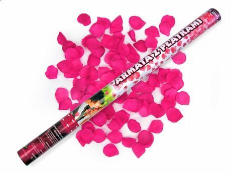 3ks/60cm/ružové lupene vystrelovacie,