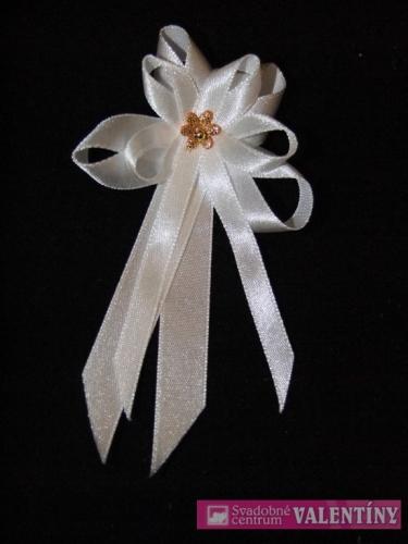 pierko biele saténové zlatý kvet,