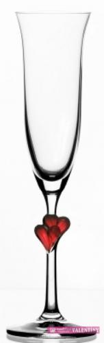 pohár červené srdiečko meno a dátum zdarma,