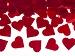 Vystrelovacie konfety červené srdcia,