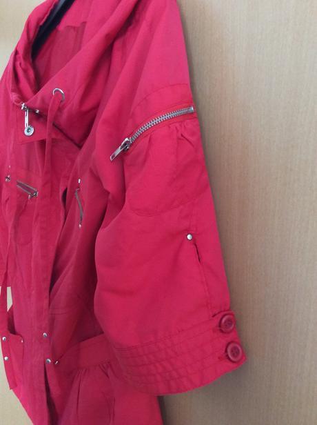 Červená elegantní bundička vel. 34-38, 36