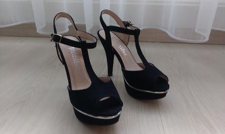 Pohodlné sandálky na vysokém podpatku, 36