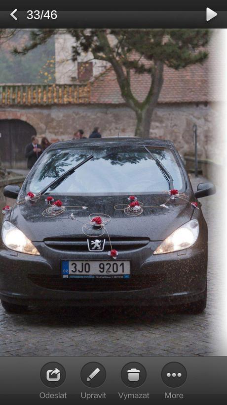 Cervene ozdoby na auto,