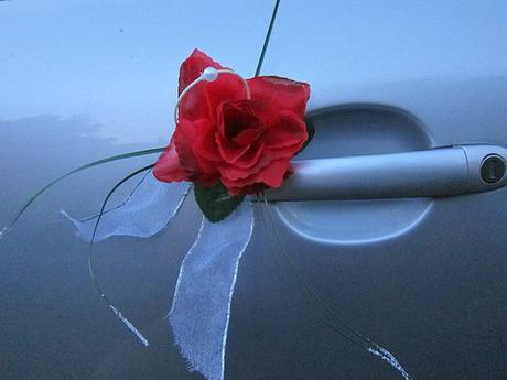Svatební dekorace růže,