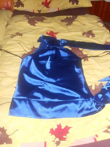 modra elegantná blúzka, 40