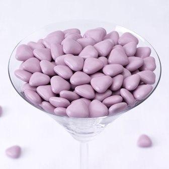 Čokoládová minisrdíčka - lila ,