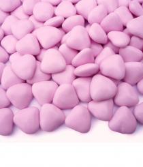 Čokoládová srdíčka růžová 200 ks,