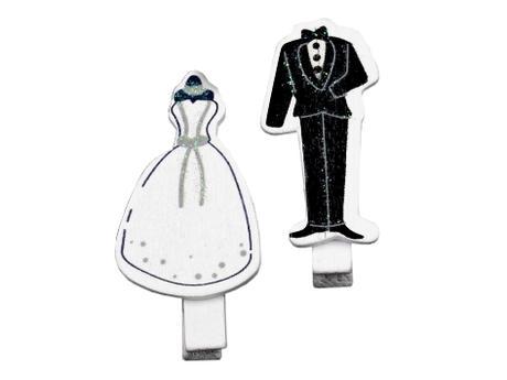 Kolíček svatební nevěsta a ženich (2ks),