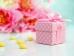 Krabička na mandle růžová s puntíky ,