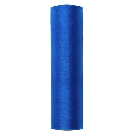 Organza úzká - tmavě modrá,
