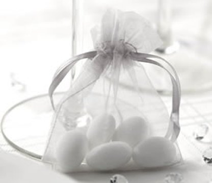 Pytlíček na mandle - stříbrnošedý,