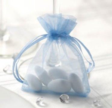 Pytlíček na mandle - světle modrý,