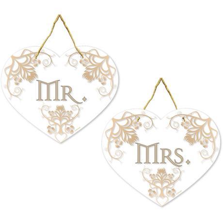 Svatební cedulky Mr.&Mrs.,