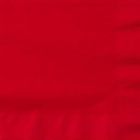 Ubrousky papírové - červené,