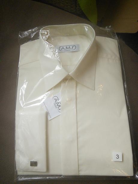 Panská krémová košile, 40