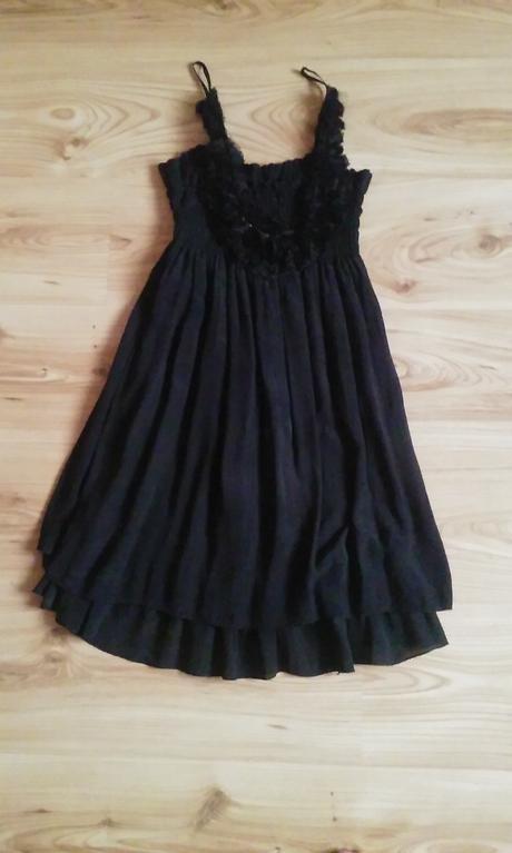 čierne letné šaty, 36