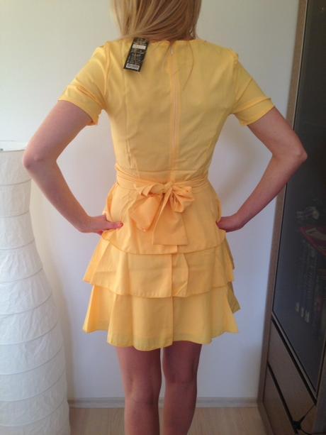 Šaty krátke žlté, S