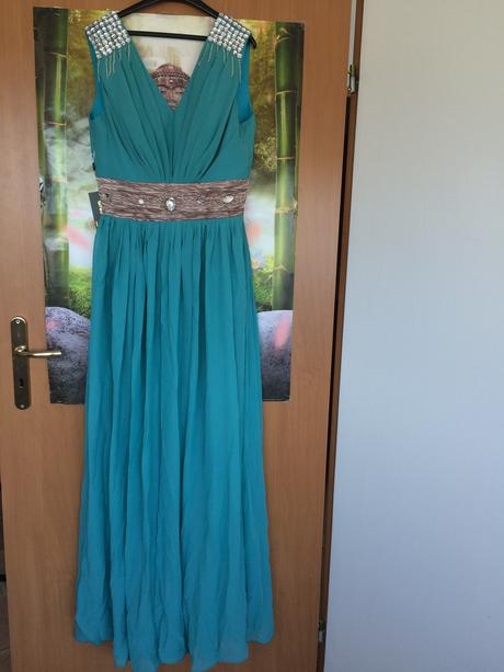 Spoločenské šaty azúrové, 40