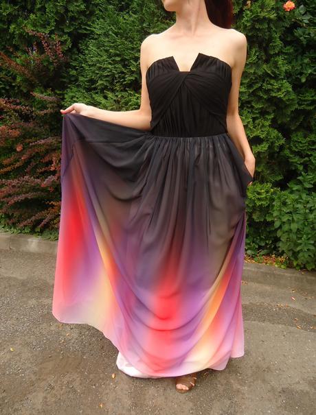 Spoločenské šaty farebné, 38