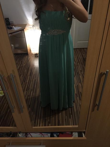 Mentolové dlhé šaty , 42