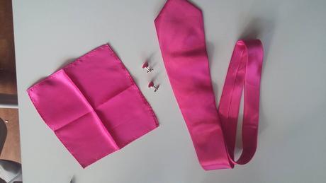 Set kravata, kapesníček, knoflíčky,