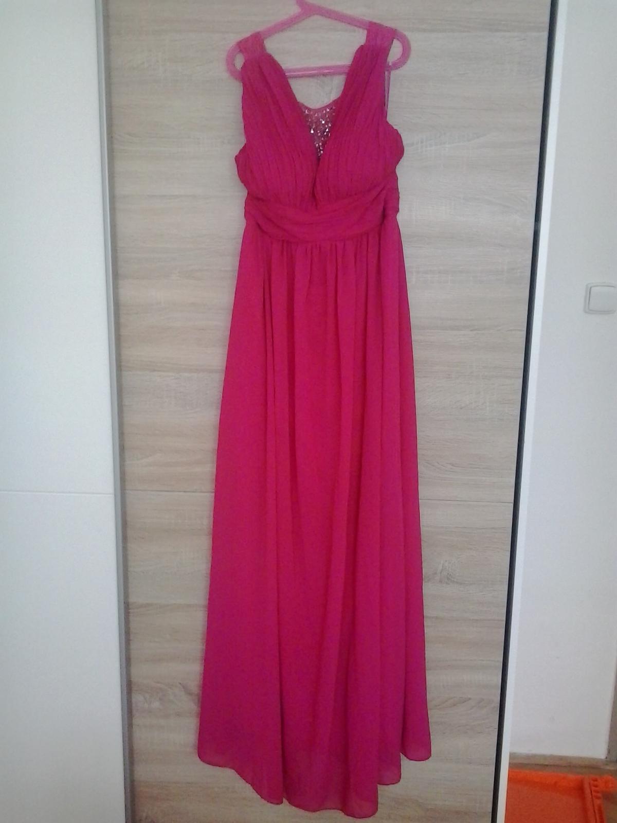 6d7760f3058 Fuchsiové dlouhé šaty