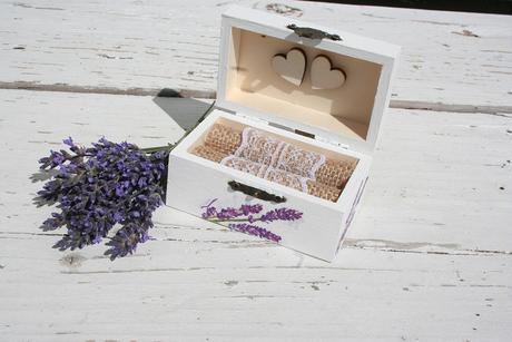 Krabička na prstienky - levanduľová,