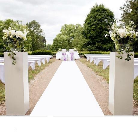 Svatební koberec bílý - prodej,